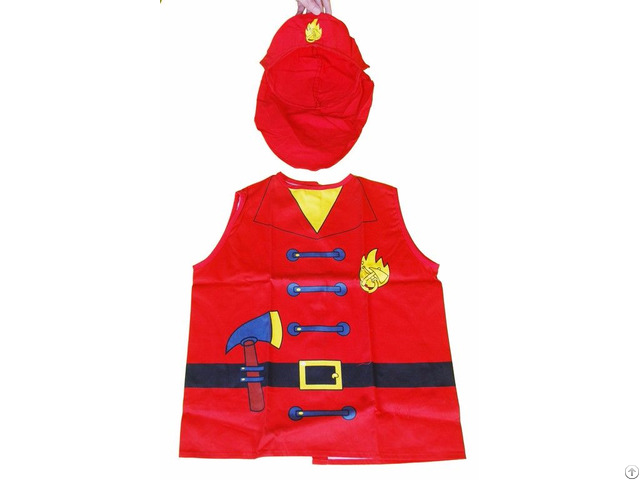 Ml Ap 2001 Red Firemen Cotton Childrens Aprons