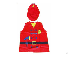 Ml Ap 2001 Red Firemen Cotton Childrens Aprons