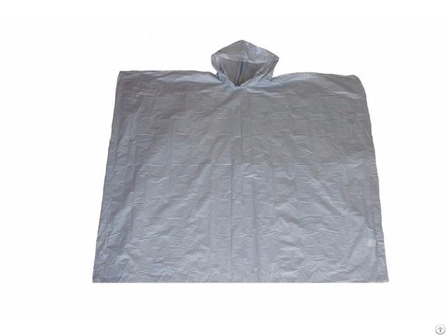 R 1020a Peva 03 Silver Eva Disposable Rain Ponchos For Men