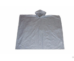 R 1020a Peva 03 Silver Eva Disposable Rain Ponchos For Men