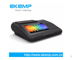 Ekemp P7 Window Or Android Tablet Pos With Fingerprint And 3g Printer