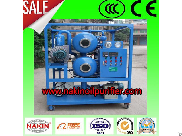 Zyd Double Stage Vacuum Transformer Oil Purifier Filtration Machine