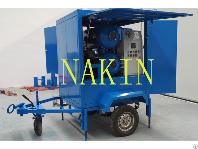 Zym Mobile Type Vacuum Insulating Oil Purifier Filtration Machine