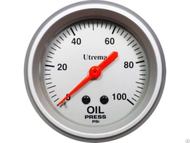 Utrema Racing Mechanical Oil Pressure Gauge