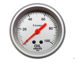 Utrema Racing Mechanical Oil Pressure Gauge