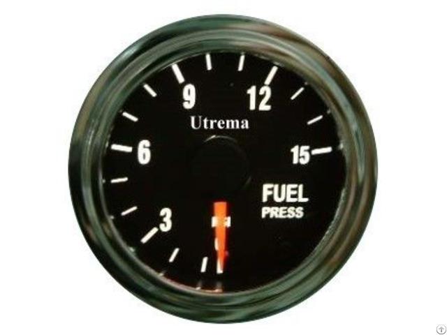 Utrema Auto Fuel Pressure Gauge Illuminated 52mm