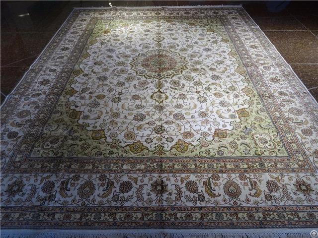 Light Color Belgium Iranian Silk Carpet Factory In Guangzhou