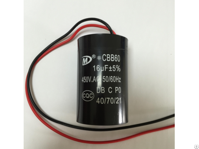 Hot Sales Cbb60 Motor Run Capacitor For Washing Machine