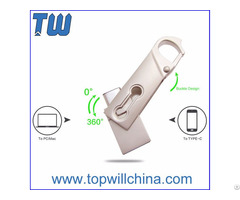 Metal Slim Usb 3 1 Type C Flash Drive Buckle Design Fast Delivery