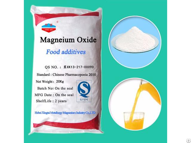Magnesium Oxide Food Additives E530 Fccv