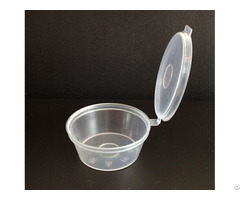 Plastic Sauce Container With Hinged Lid 1 5oz 3oz