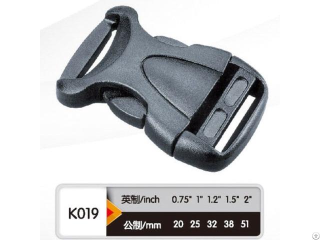 Black Plastic Adjustable And Curved Side Release Buckle
