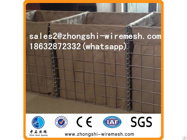 Defensive Hesco Barrier