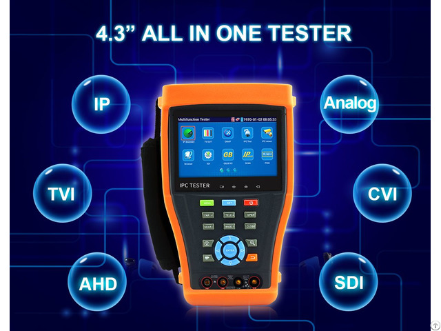 All In One Ip Cctv Tester With 4 3 Inch Touch Screen