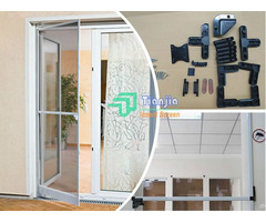Aluminum Framed Retractable Pet Screen Door Curtains