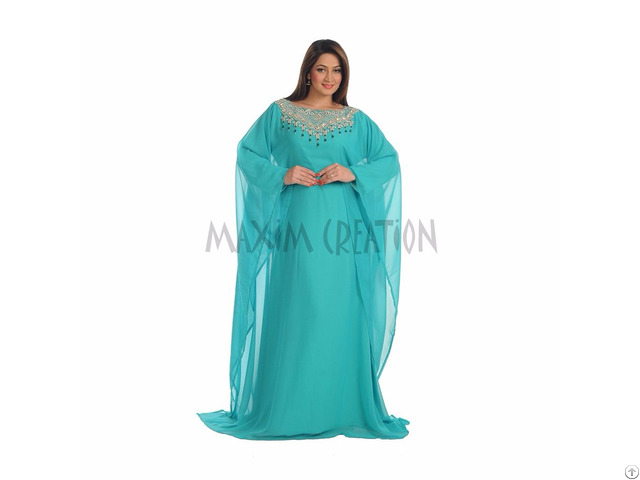 New Dubai Islamic Evening Wear Kaftan Dress