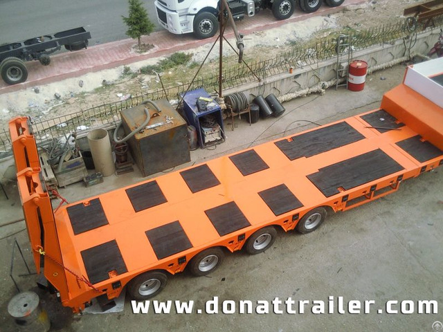 Lowbed Semi Trailer 4 Axle Orange