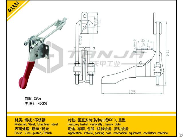 Tanja 40334 Steel Install Vertically Heavy Duty Toggle Latch