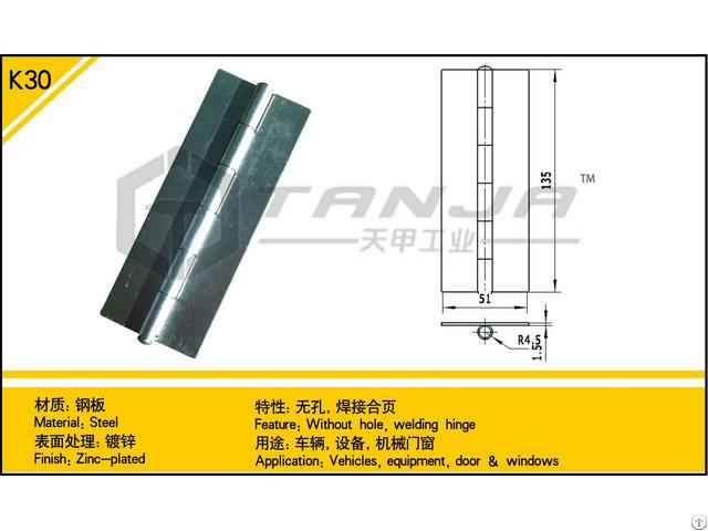 Tanja K30 Steel Welding Hinge Without Hole