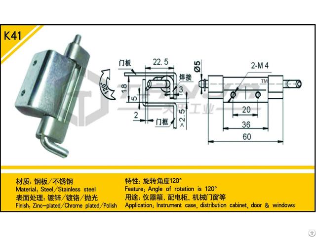 Tanja K41 Steel Hinge Angle Of Rotation Is 120°