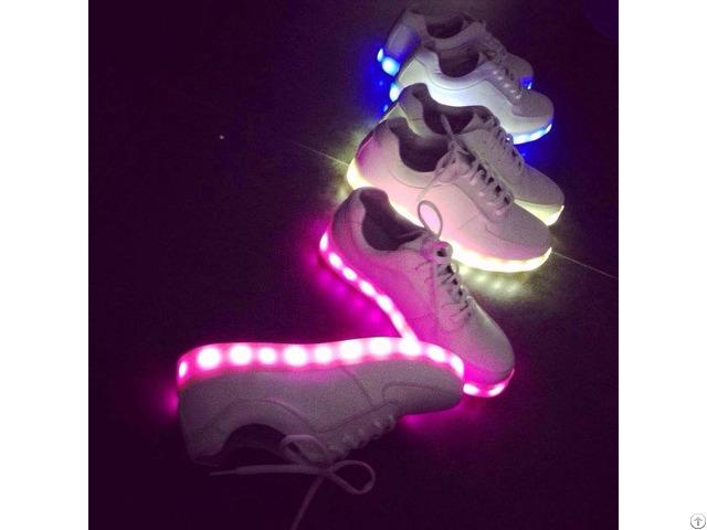 Fashion Pu Leather Usb Led Light Shoes