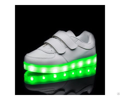 White Children Fashion Luminous Led Shoes