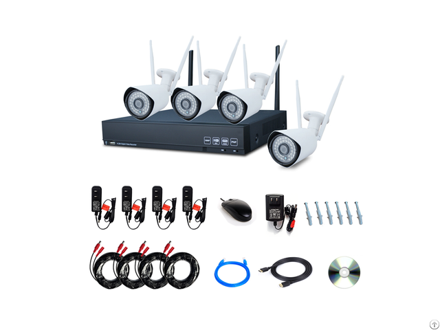 4ch 1080p Wireless Security System