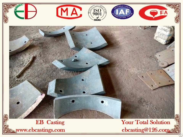 Ni Hard White Iron Chute Liners Heavy Section Bolt Holes Astm A532 Class I Type Eb20053