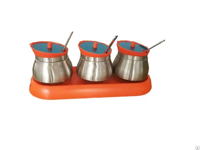 Glass Storage Canister With Ladle Stainless Steel Set