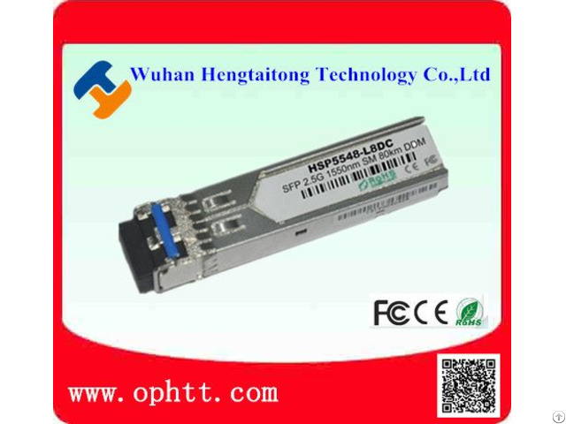 Sfp Duplex Lc 2 5g 1550nm 80km Fiber Optic Transceiver Module