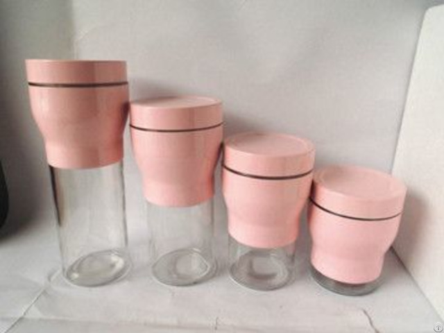 New Torch Shaped Glass Canister Set S 4