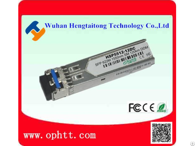 Sfp Duplex Lc 1 25g 1550nm 120km Fiber Optic Transceiver Module