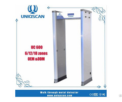 Security Check Good Quality Equipment Walk Through Metal Detector With 18 Zones