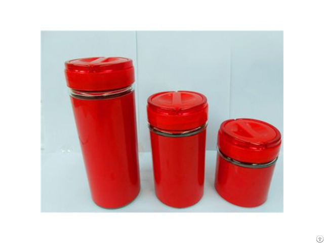Piece Glass Canister Set With Handle