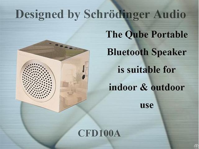 Qube Portable Bluetooth Speaker For Travel