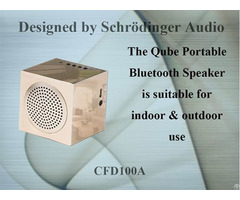 Qube Portable Bluetooth Speaker For Travel