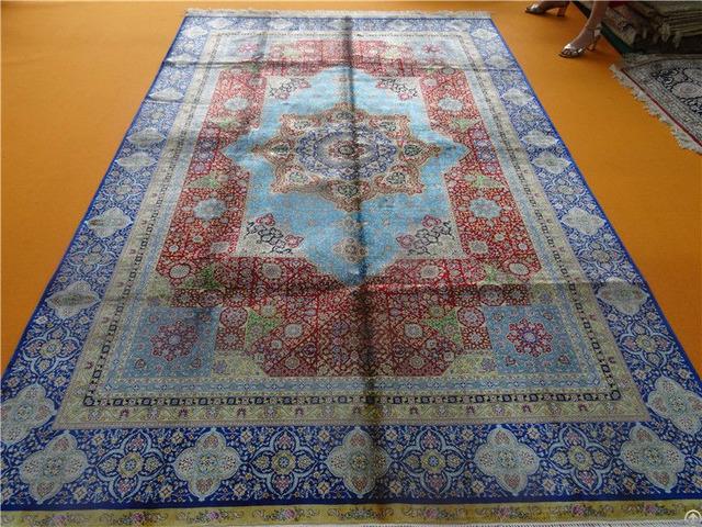 Handemade Silk Rugs Antique European Carpet