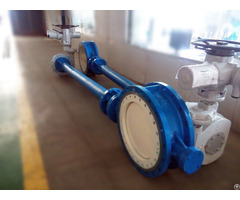 Electric  Extended Stem Metal Sealing Butterfly Valve
