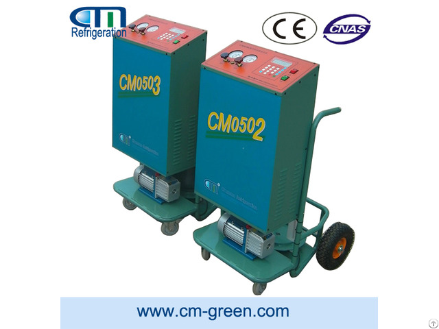 Cm05 Trolley Type Refrigerant Recovery Vacuum Recharge Machine
