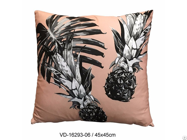 Pillow Cushion Decorative Fashion Home Accessories Tropical Pineapple Design In Pink