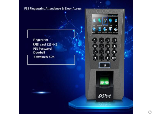 F18 Fingerprint Time Attendance Access Controller