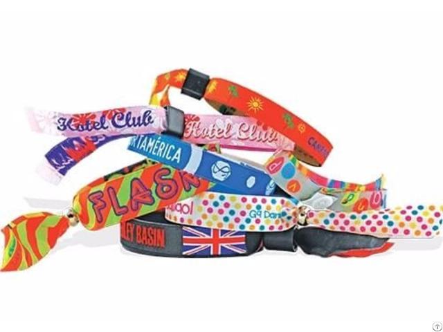 Custom Fabric Wristbands Wholesale