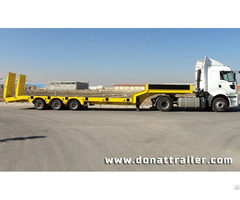 Lowbed Semi Trailer 3 Axle Yellow