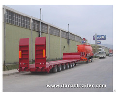 Lowbed Semi Trailer Red Colour