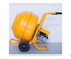 Hand Pushed Electric Driven Concrete Mixer Used In Small Construction Site