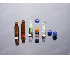 Hplc Autosampler Vials Thread Nd9 425 Screw Neck Glass Sample With Caps And Septa
