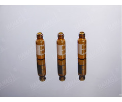 Hplc Autosampler 1 5ml Vials Thread Nd8 425 Screw Neck Glass Sample With Caps And Septa