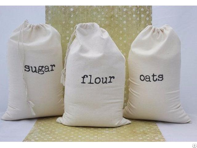 Rice Bag Flour Sack Muslin Pouch