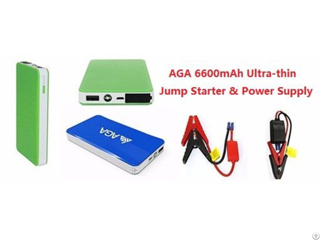 Chinese Manufacturer Of Mini Car Jump Starter 6600mah Thin Power Bank