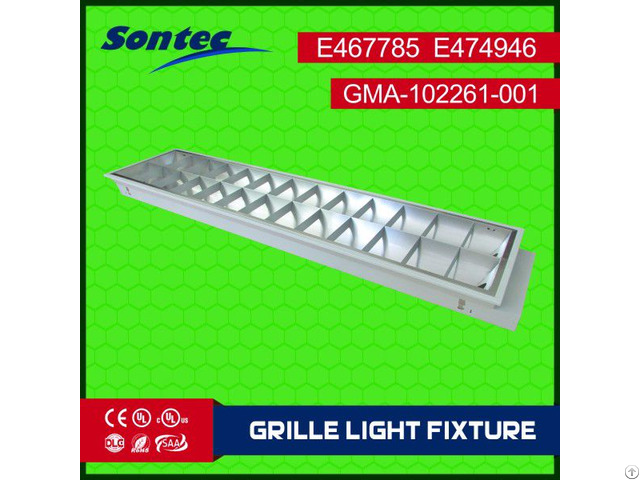 Fluorescent 2x36w T8 Recessed Mounted Type Grille Lamp